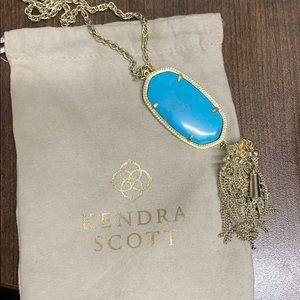 Kendra Scott Rayne Necklace, Gold & Turquoise